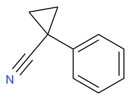 1-phenylcyclopropane-1-carbonitrile_分子结构_CAS_935-44-4