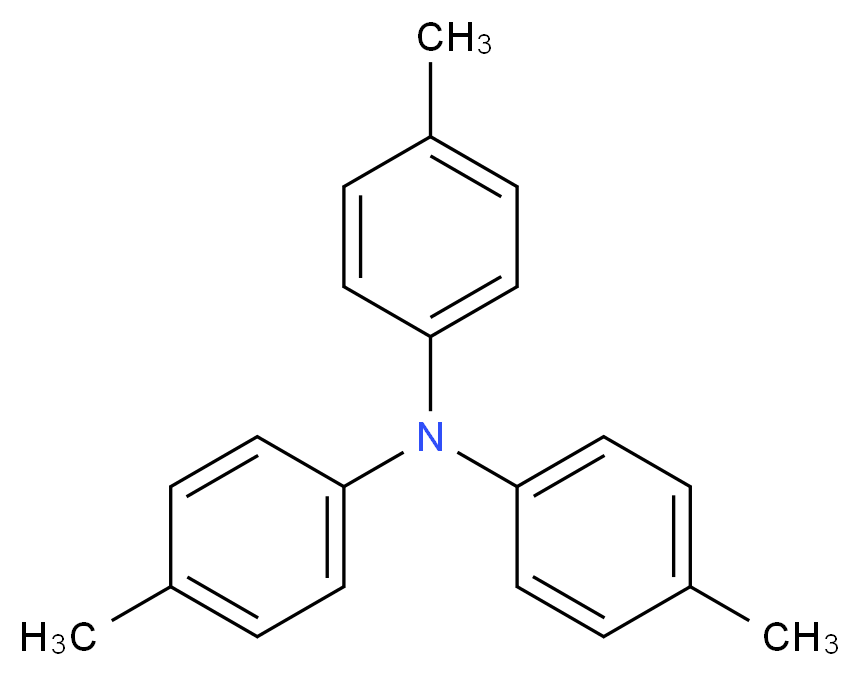 4-methyl-N,N-bis(4-methylphenyl)aniline_分子结构_CAS_1159-53-1