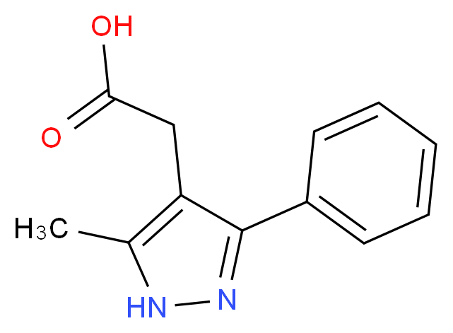 (5-Methyl-3-phenyl-1H-pyrazol-4-yl)acetic acid_分子结构_CAS_)