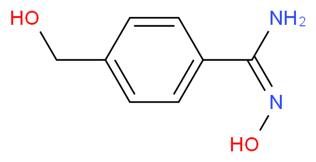 (E)-N'-hydroxy-4-(hydroxymethyl)benzene-1-carboximidamide_分子结构_CAS_5373-87-5