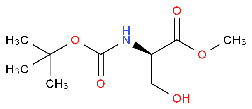 Boc-D-Serine methyl ester_分子结构_CAS_95715-85-8)